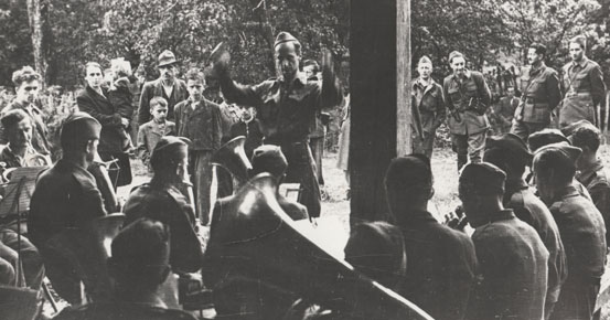Military band of the Slovenian Headquarters – August 1944.