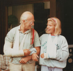 With his grand-daughter, Nina Makuc.