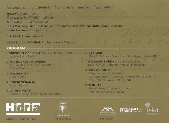 Slavnostni koncert ob 350 letnici Godbenega društva rudarjev Idrija