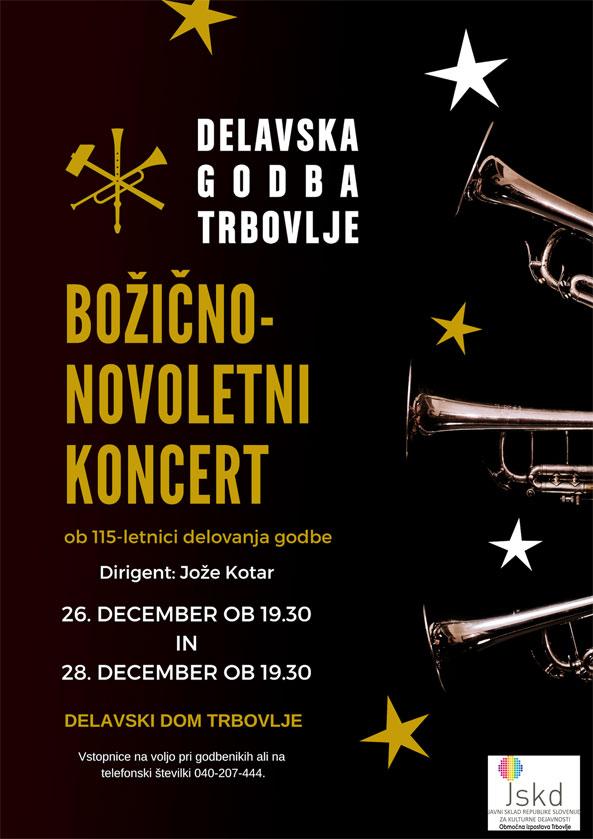 Božično-novoletni koncert Delavske godbe Trbovlje