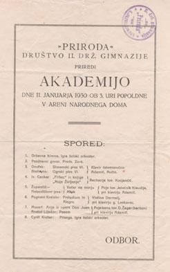 Akademija leta 1930.