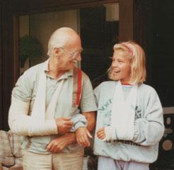 Z vnukinjo Nino Makuc.