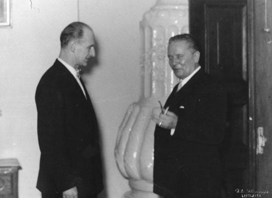 Bojan Adamič in Tito